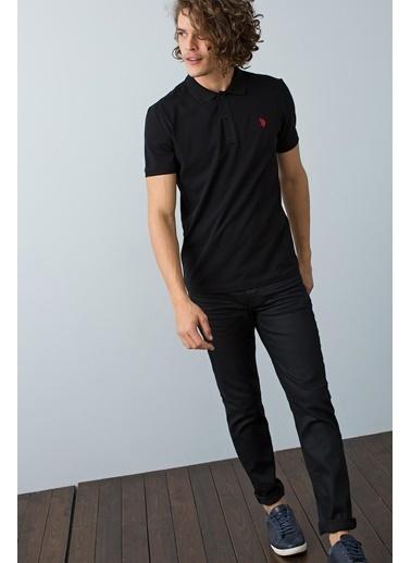 U.S. Polo Assn. Polo Yaka Tişört Siyah